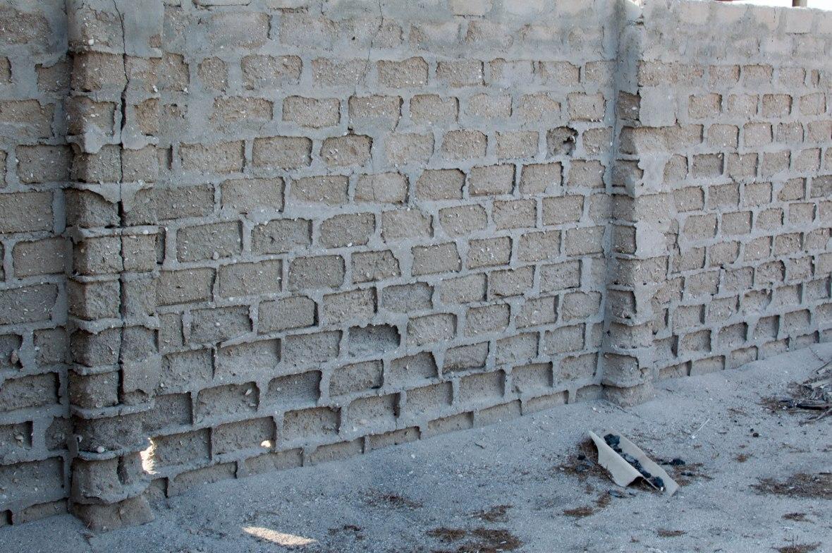 Still Standing Wall, Abandoned City, Al Jazirat Al Hamra, Ras Al Khaimah, UAE