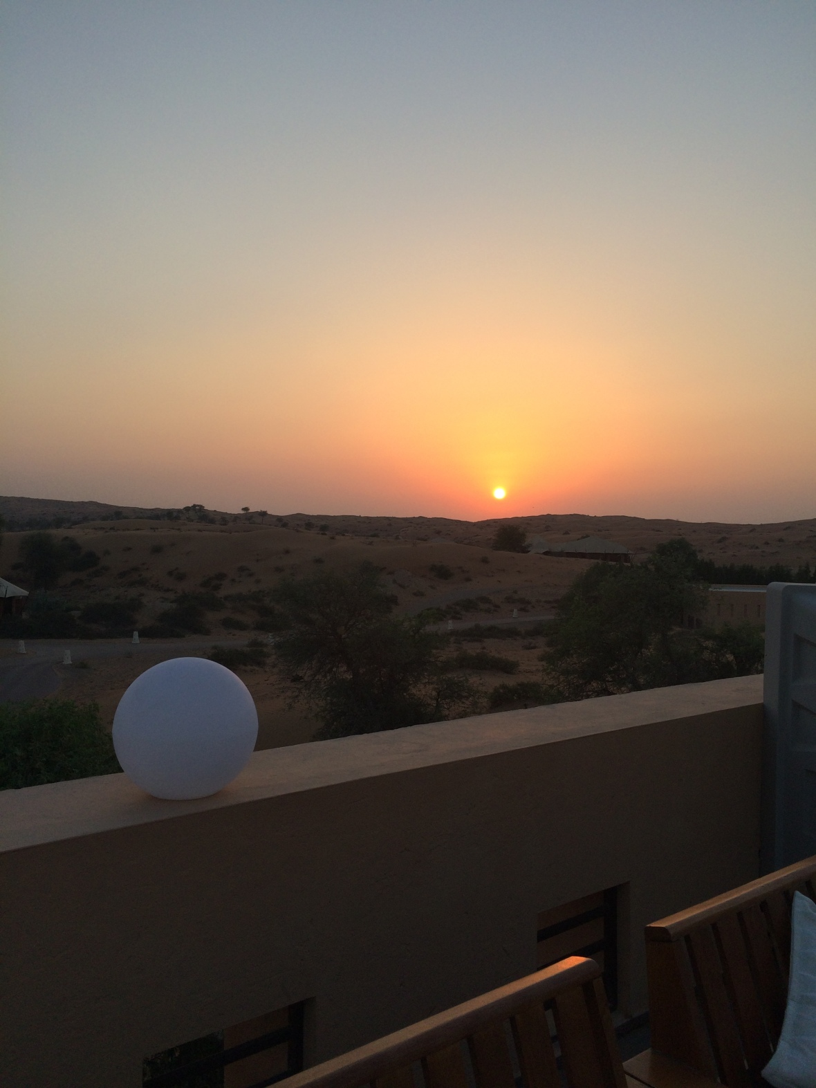 Sun Setting From The Moon Bar, Banyan Tree Al Wadi, Ras Al Khaimah, UAE