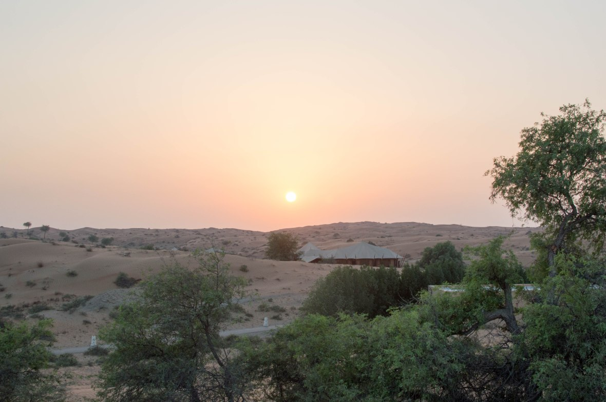 Sun Setting, Moon Bar, Banyan Tree Al Wadi, Ras Al Khaimah, UAE