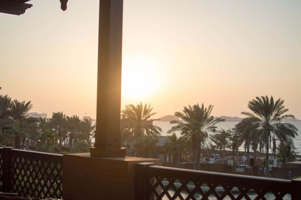 Sun Starting To Set, Bahri Bar, Madinat Jumeirah, Dubai, UAE