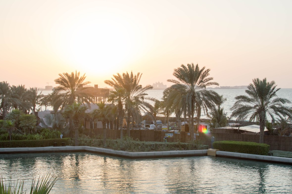 Sunsetting Over The Atlantis Hotel, Bahri Bar, Madinat Jumeirah, Dubai, UAE