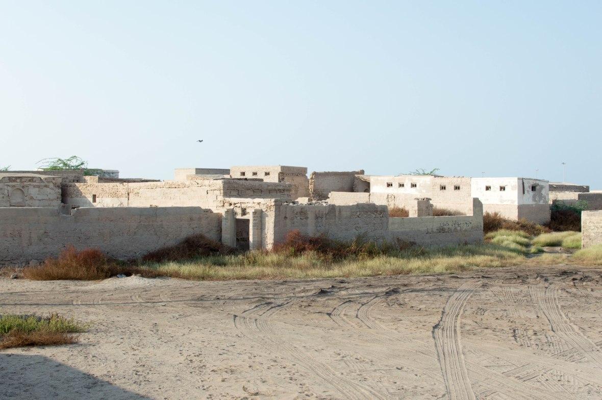 Tyre Tracks, Abandoned City, Al Jazirat Al Hamra, Ras Al Khaimah, UAE