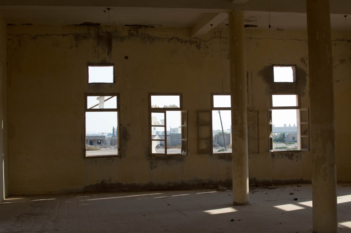 View From Prayer Hall, Mosque, Abandoned City, Al Jazirat Al Hamra, Ras Al Khaimah, UAE