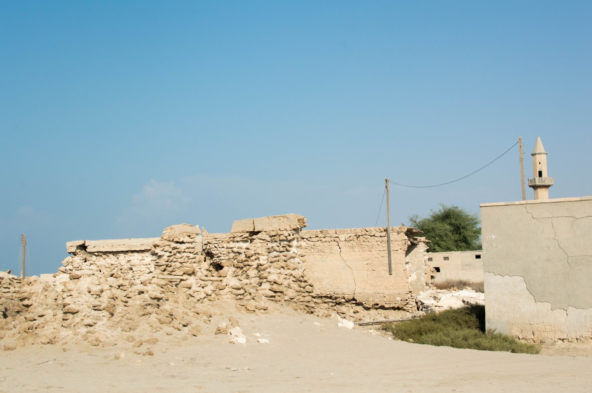 Walls Falling, Abandoned City, Al Jazirat Al Hamra, Ras Al Khaimah, UAE