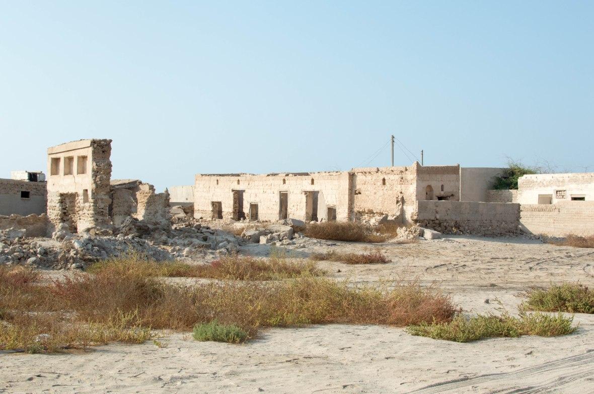 Wide Shot, Abandoned City, Al Jazirat Al Hamra, Ras Al Khaimah, UAE