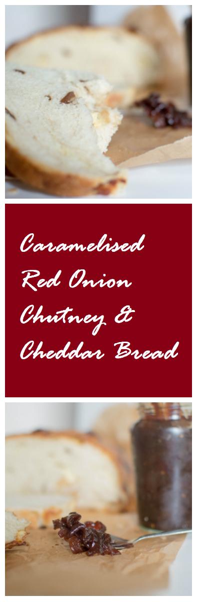 Caramelised Red Onion Chutney & Cheddar Bread