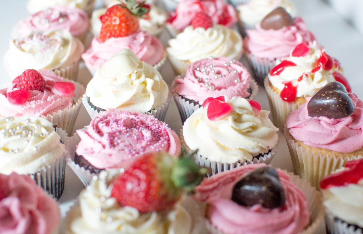 Mix And Match Valentine's Day Themed Cupcakes