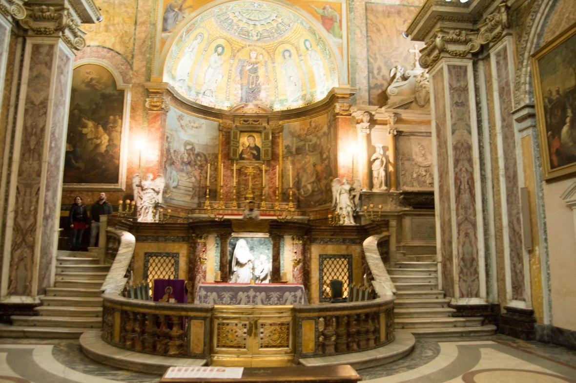 Altar, Basilica Di Santa Francesca Romana, Rome, Italy