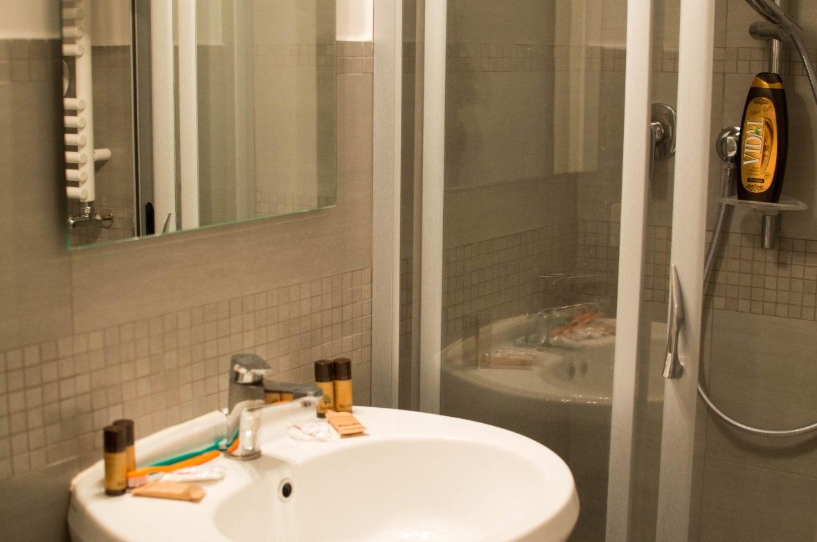 Bathroom, AirBnB, Rome, Italy