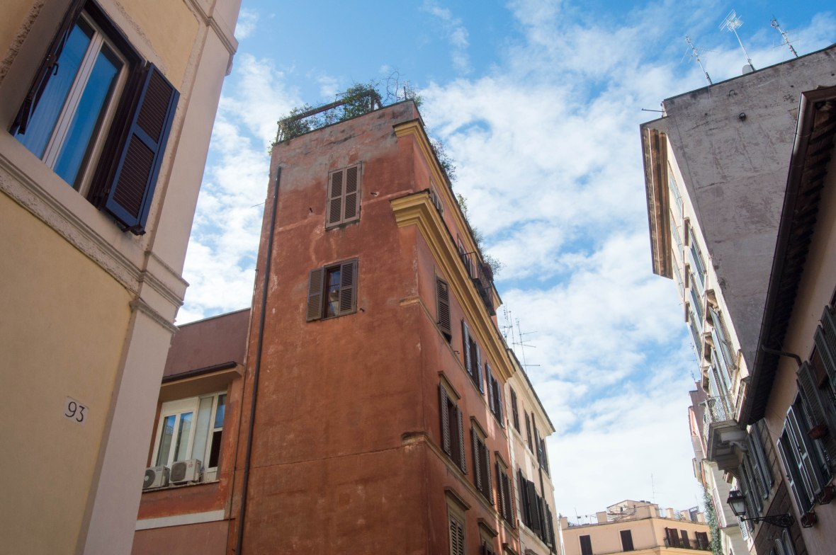 Blue Skies In Cavour, Rome, Italy