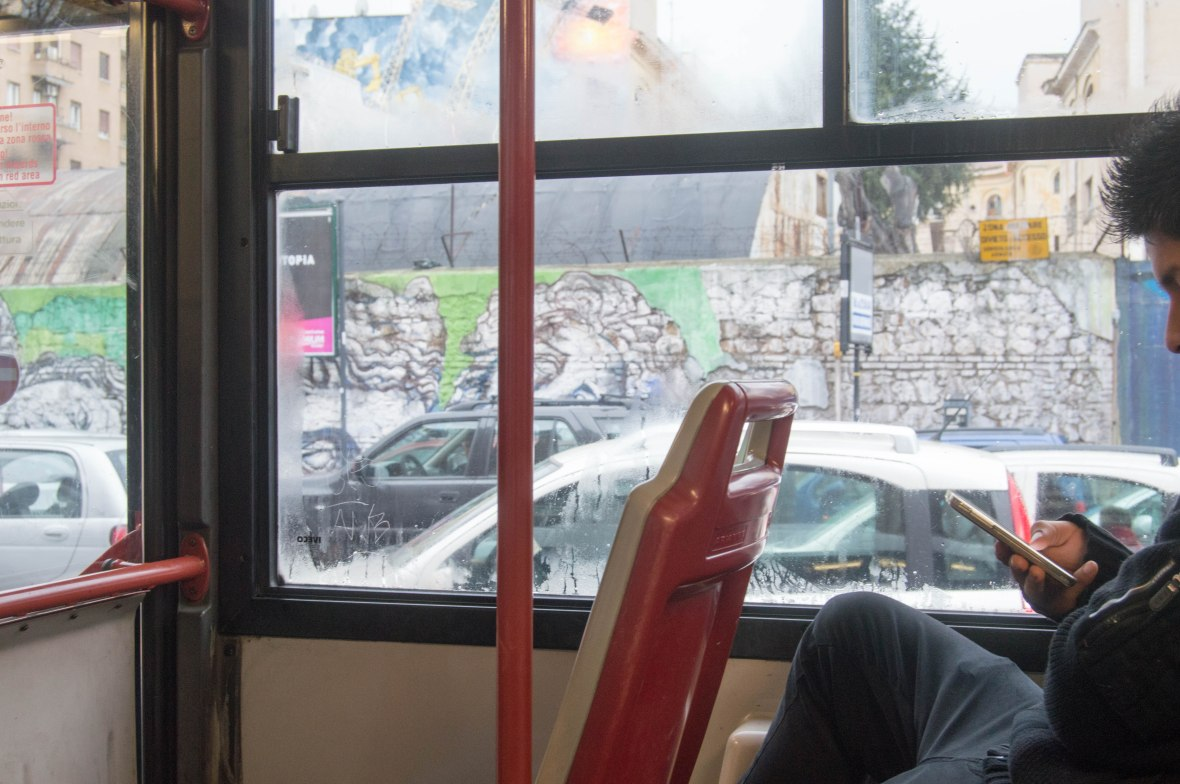 Bus Ride, Rome, Italy