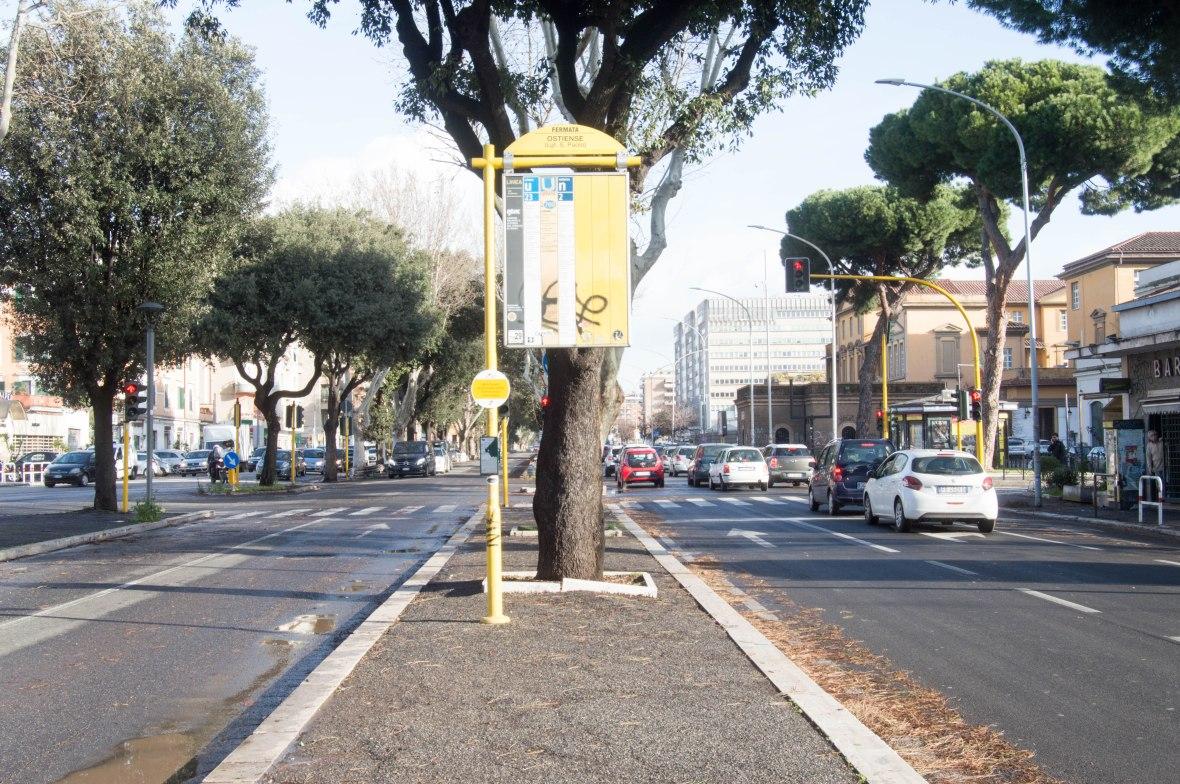 Bus Stop, Via Ostiense, Rome, Italy