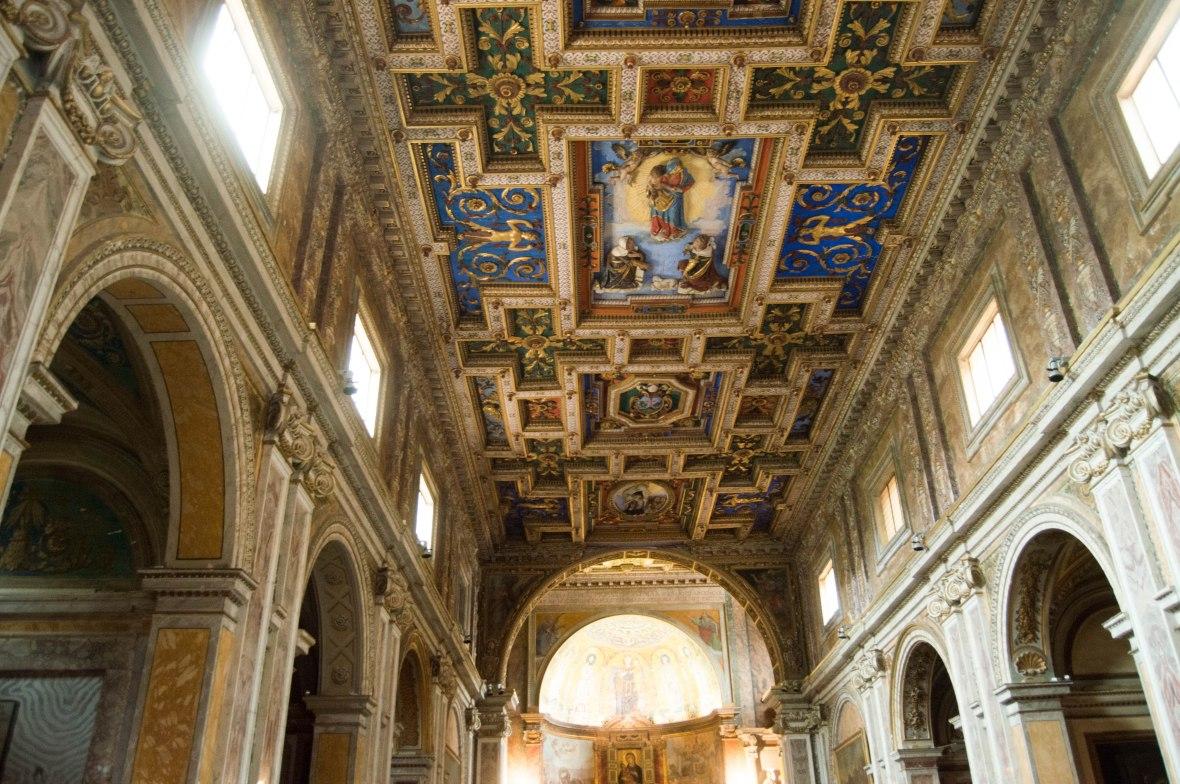 Ceiling, Basilica Di Santa Francesca Romana, Rome, Italy