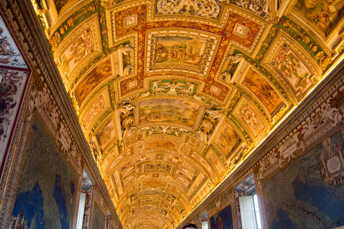 Ceiling, Gallery of Maps, Vatican Museum