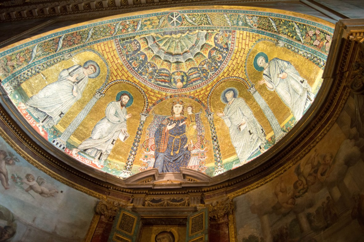 Ceiling In Basilica Di Santa Francesca Romana, Rome, Italy