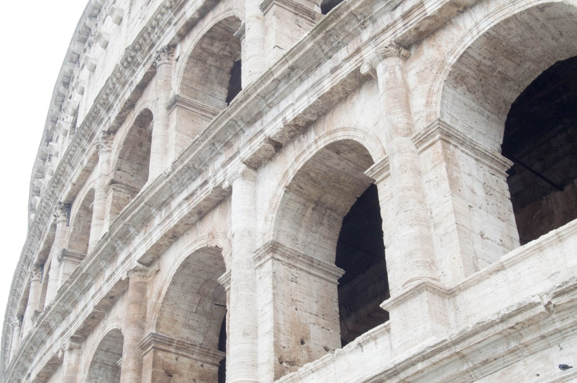 Close Up, Colosseum, Flavian Amphitheatre, Rome, Italy