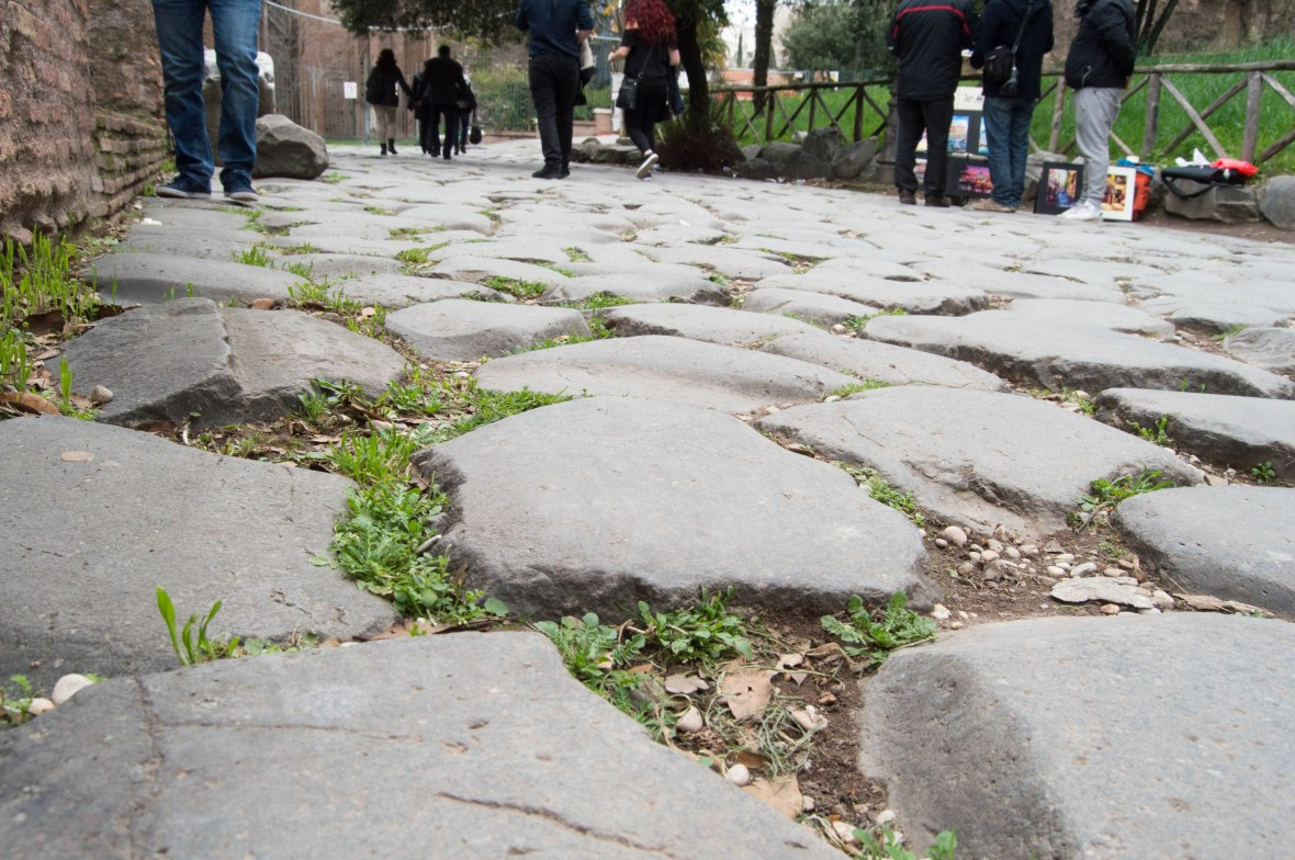 Cobbles, Rome, Italy