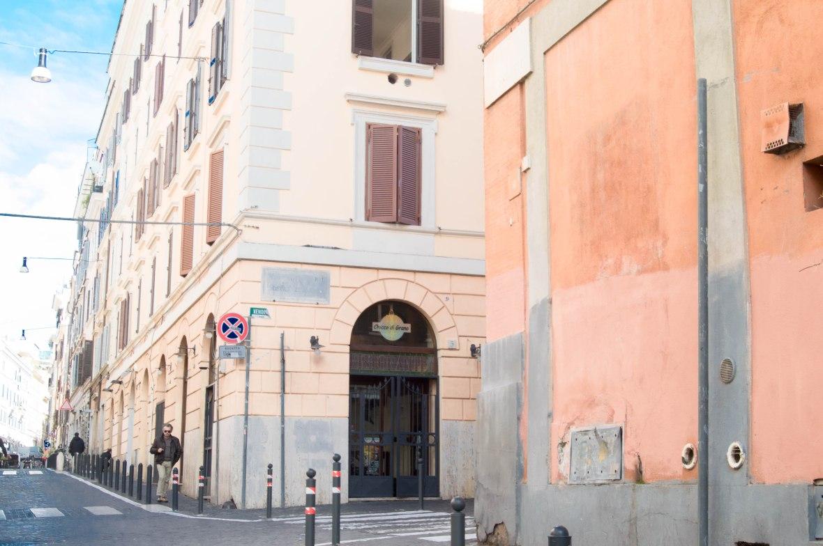 Corner Of Via Degli Zingari, Rome, Italy