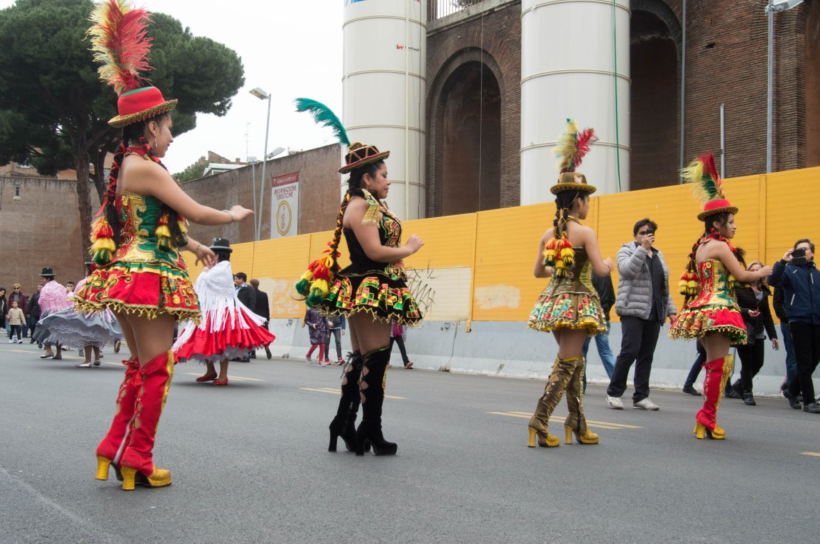 Dancers, South American Street Carnival, Rome, Italy