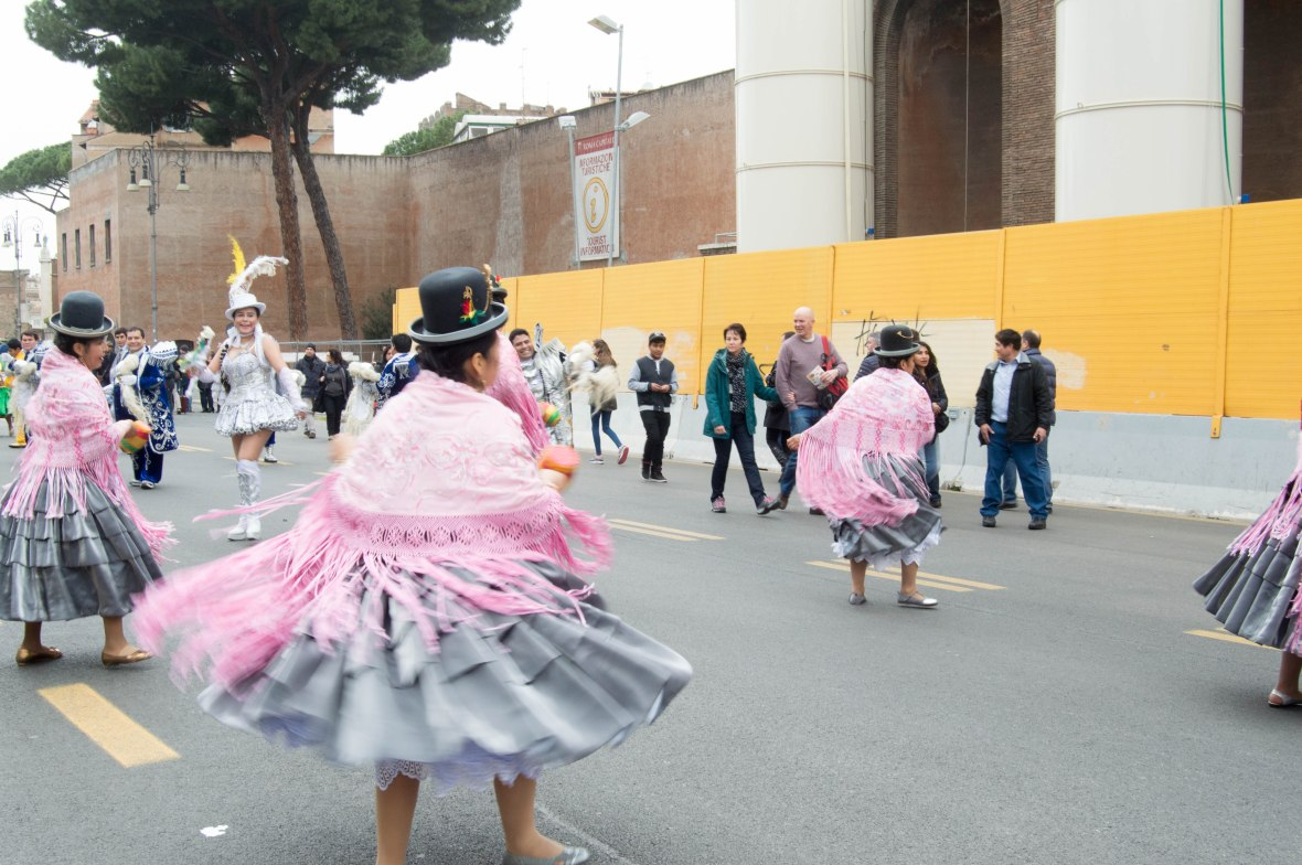 Dancing, South American Street Carnival, Rome, Italy