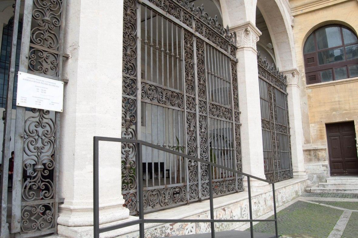 Entrance, Basilica Di San Pietro In Vincoli, Rome, Italy