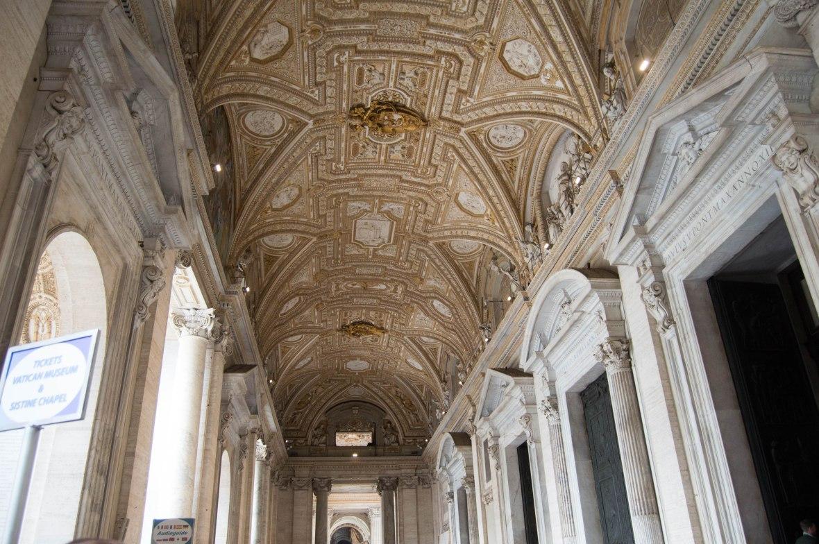 Entrance Ceiling, Basilica Di San Pietro, Vatican