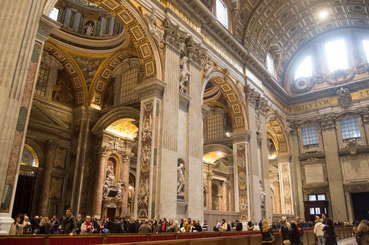 Inside The Basilica Di San Pietro, Vatican