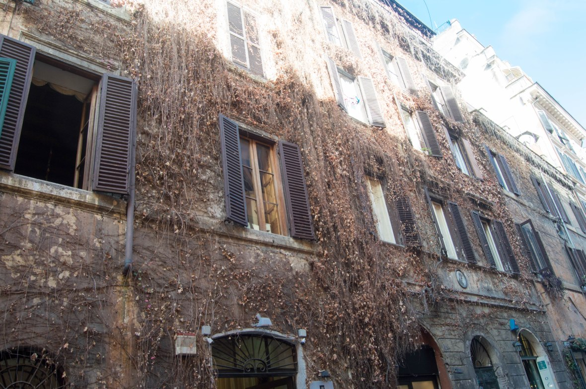 Ivy Covered House, Rome, Italy