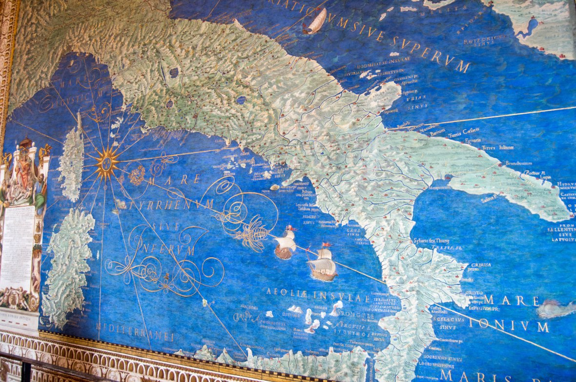 Map Of Italy, Vatican Museum