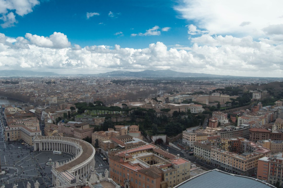 Mountain View From Basilica Di San Pietro, Vatican
