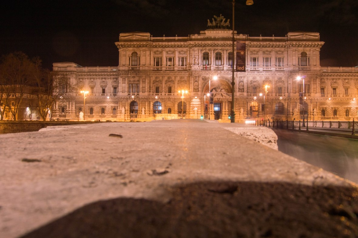 Palace of Justice By Night, Rome, Italy