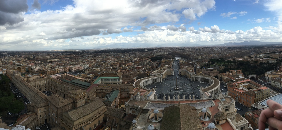 Panoramic View From Basilica Di San Pietro, Vatican