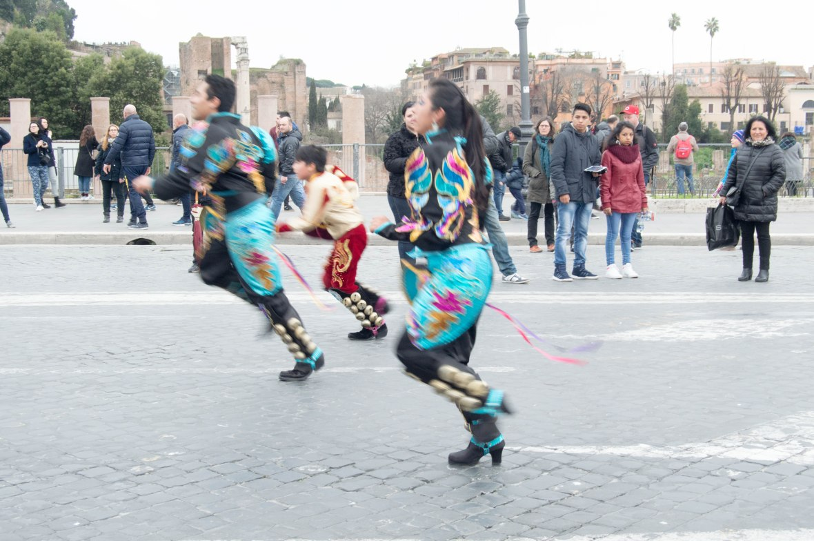 Performing, South American Street Carnival, Rome, Italy