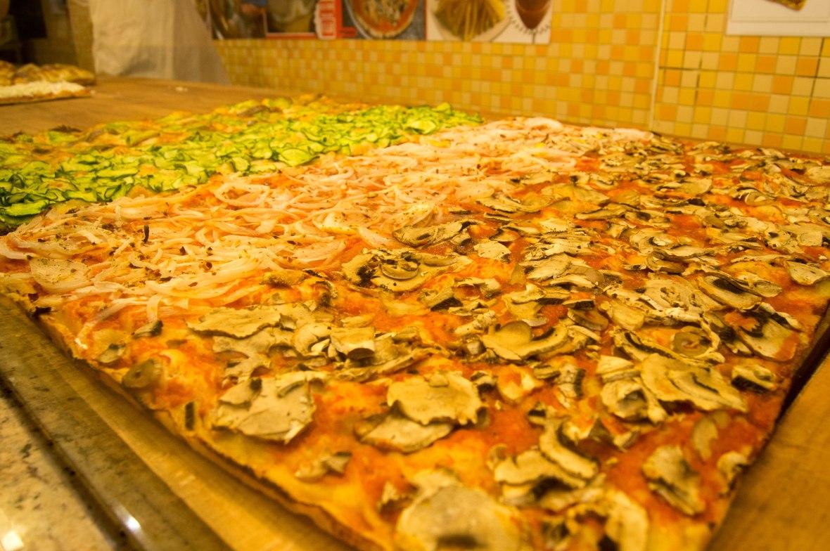 Pizzas, Pizzeria Leonina, Rome, Italy