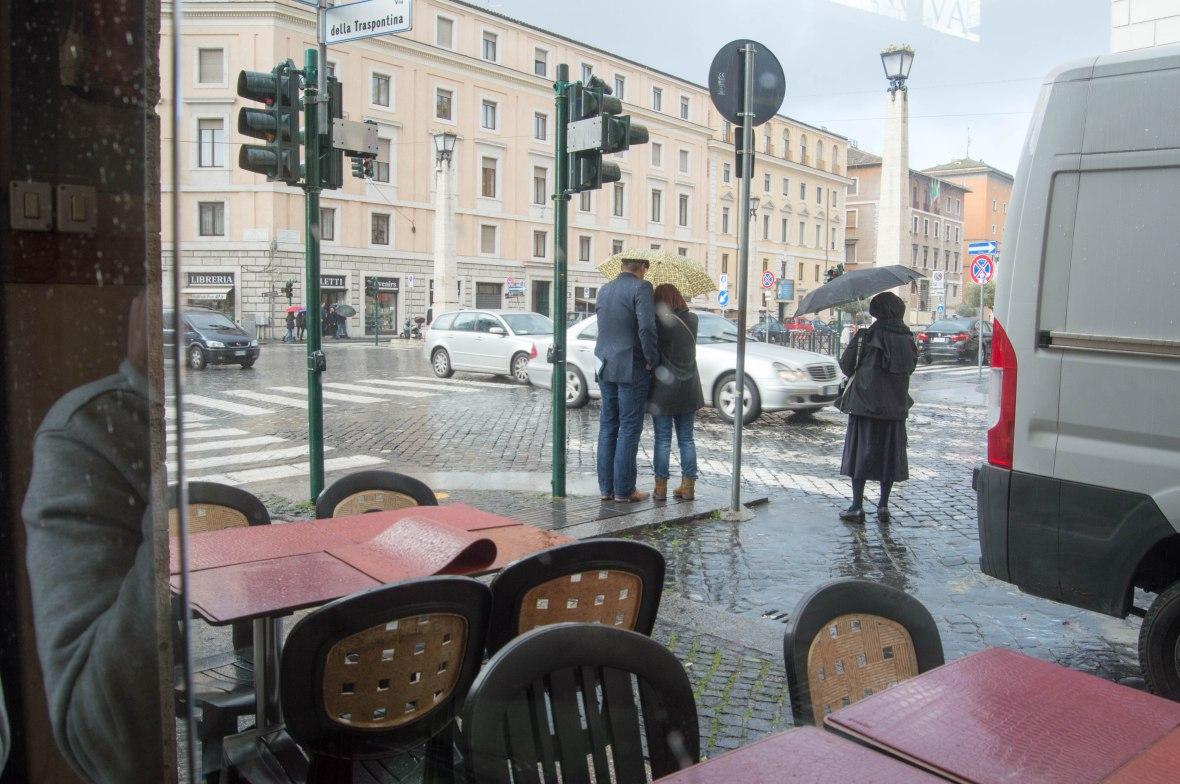 Rain, Nova Caffe, Rome, Italy