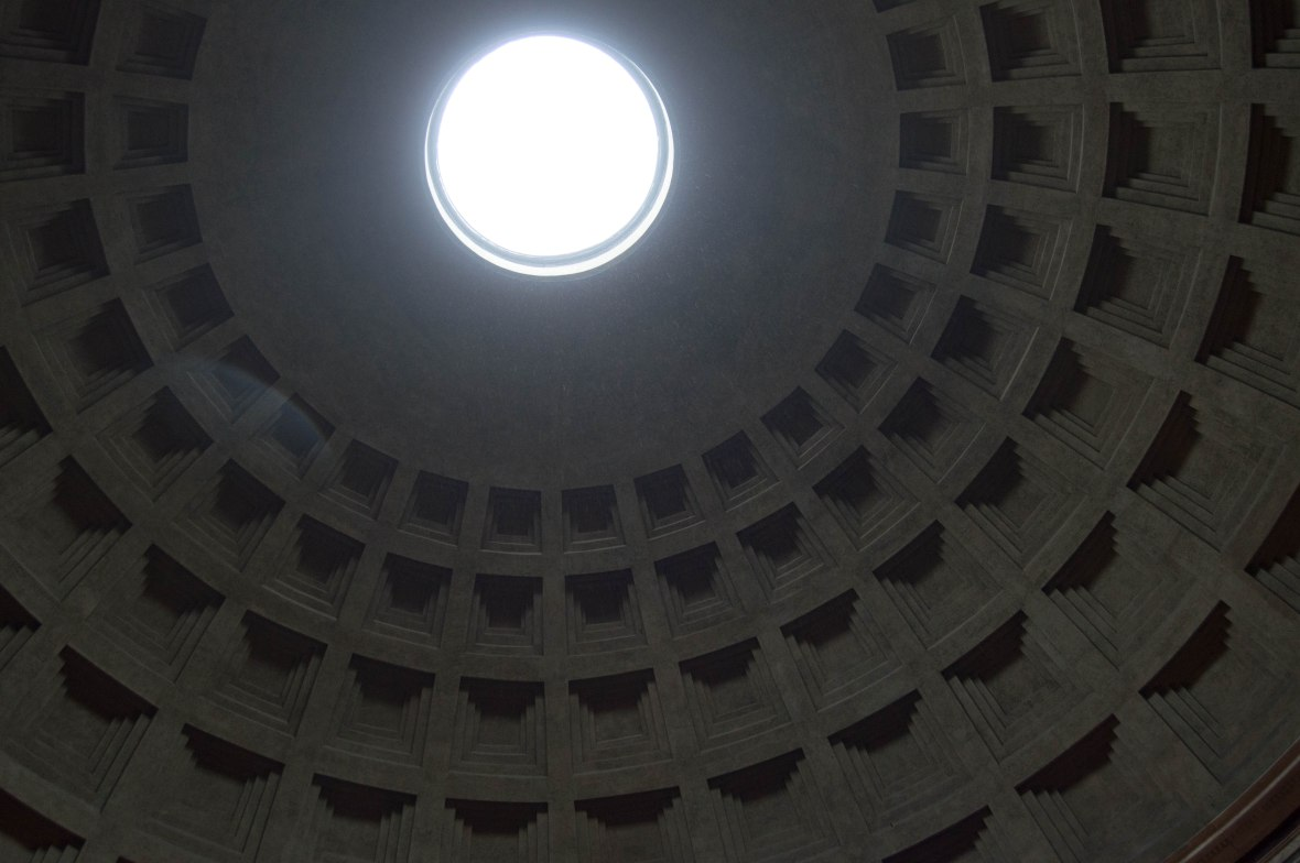 Roof, Pantheon, Rome, Italy