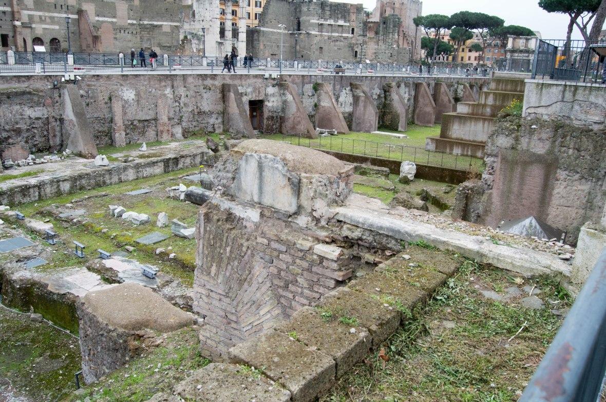 Ruins, Rione X Campitelli, Rome, Italy