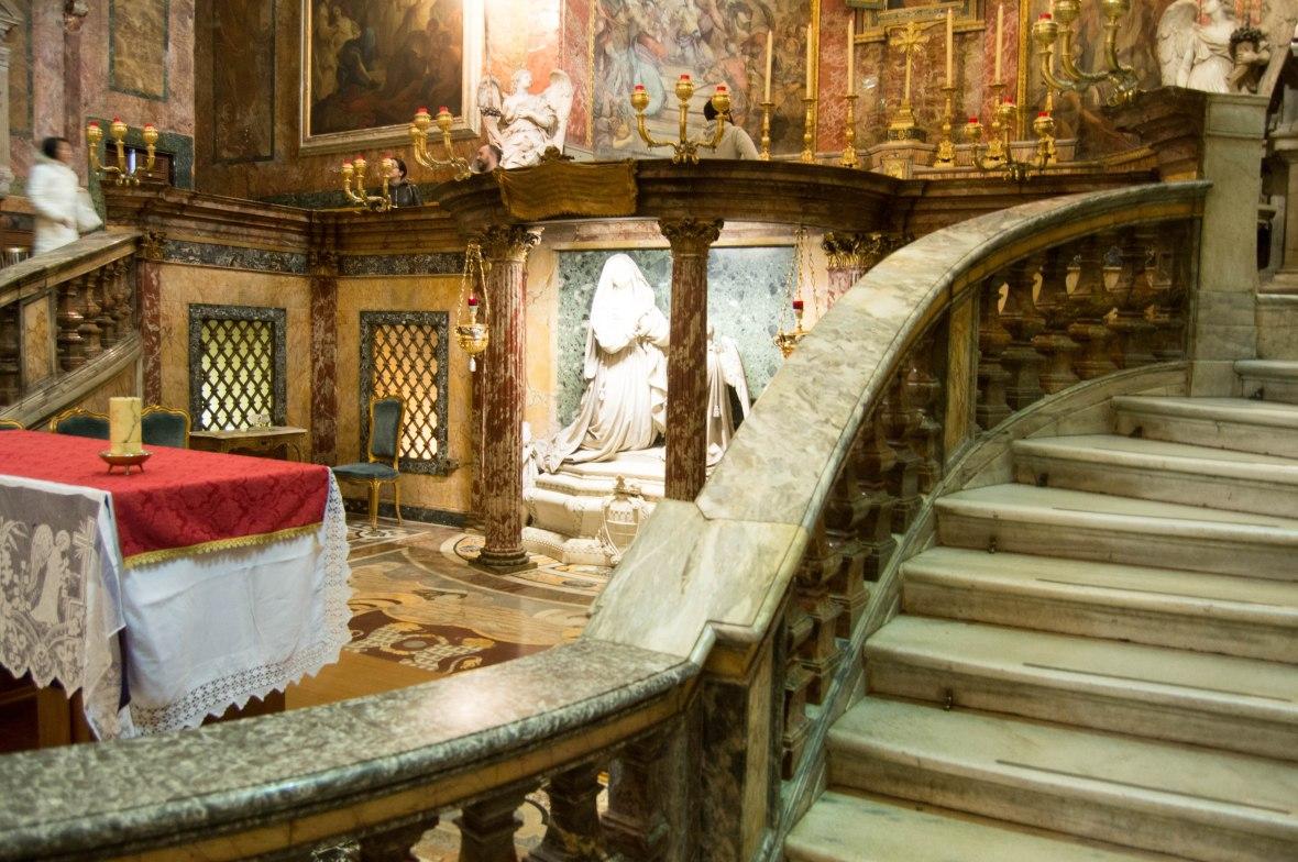 Stairs And Alter, Basilica Di Santa Francesca Romana, Rome, Italy