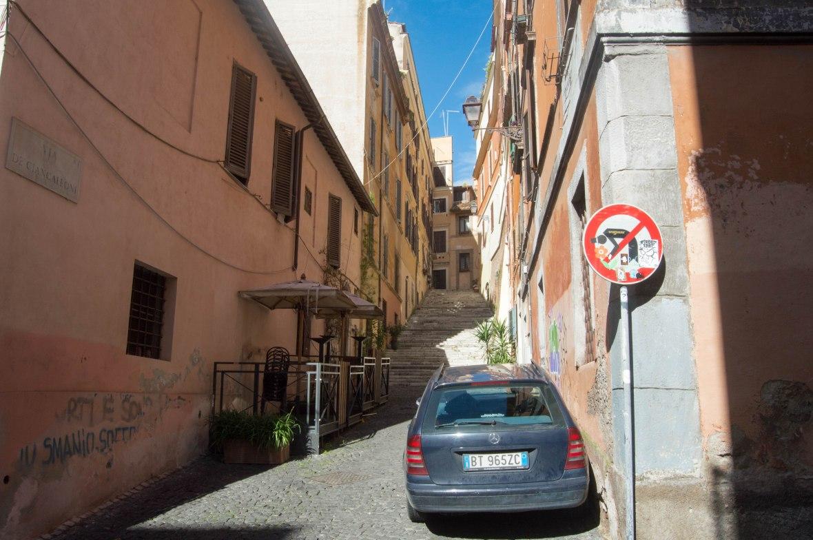 Via Dei Ciancaleoni In Rome, Italy