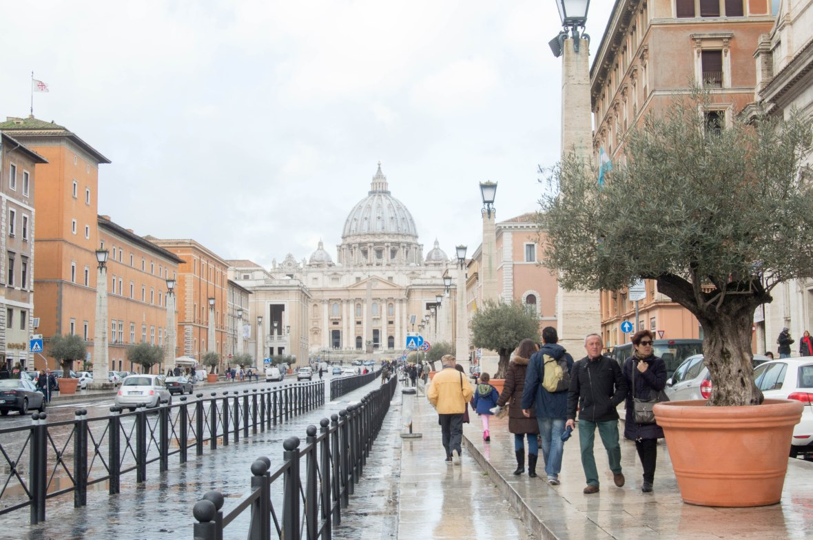 Walking To Basilica Di San Pietro, Vatican