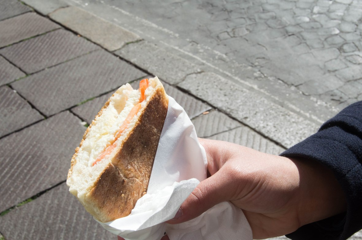 Cheese & Tomato Sandwich, Rome, Italy