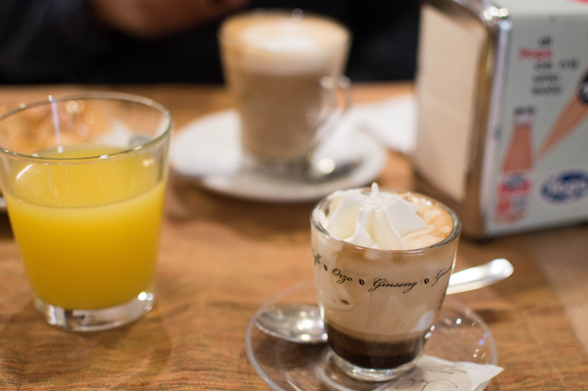 Coffee With Cream & Latte, Breakfast, Rome, Italy