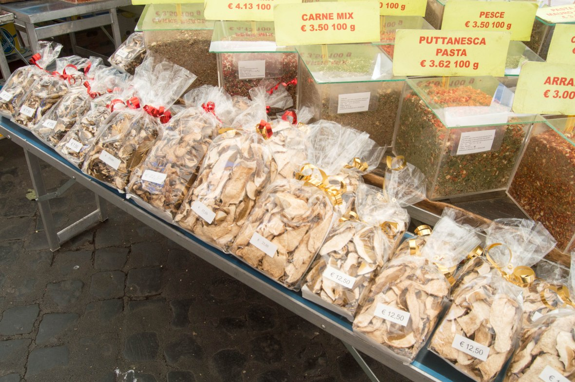Dried Mushrooms, Campo de' Fiori, Rome, Italy