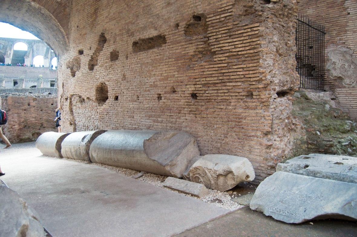 Fallen Columns, Colosseum, Rome, Italy