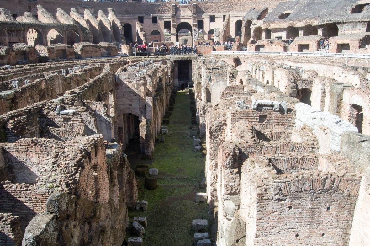 Floor, Colosseum, Rome, Italy
