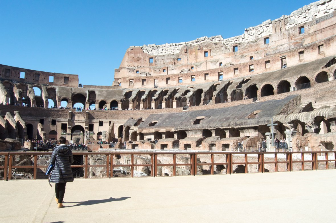 Guided Tour, Colosseum, Rome, Italy