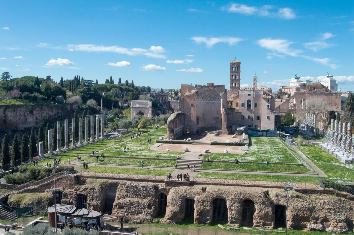 Palatine Hill From The Colosseum, Rome, Italy