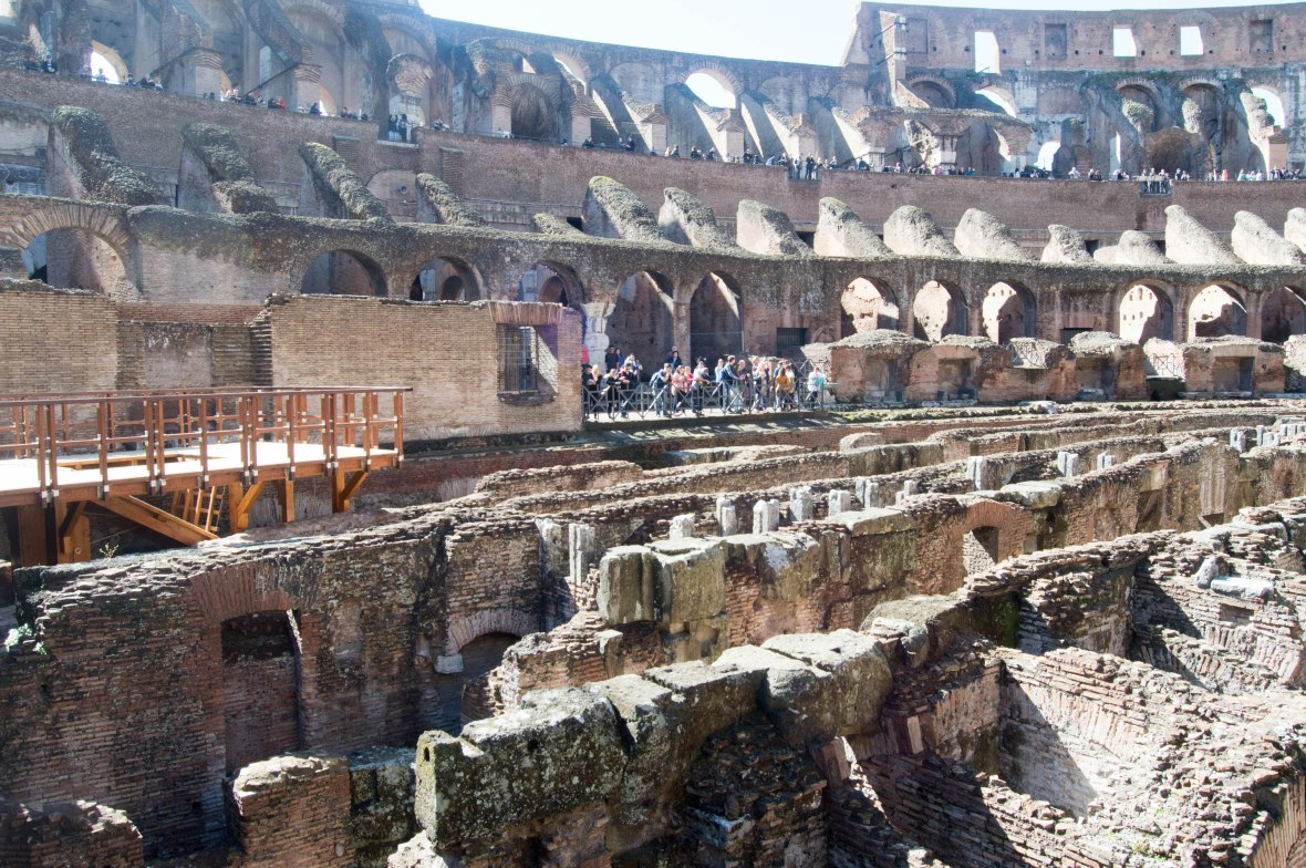 Reconstructed Trap Door, Colosseum, Rome, Italy