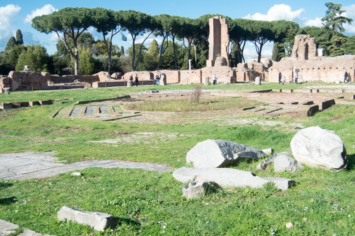 Ruins, Palatine Hill, Rome, Italy
