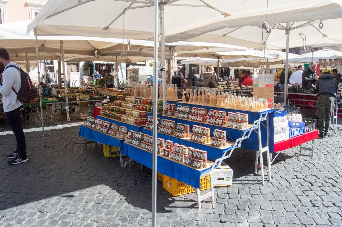 Sauces In Jars, Campo de' Fiori, Rome, Italy